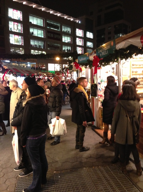 Union Square becomes bustling with shoppers when the annual Holiday Market sets up shop