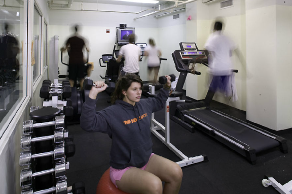 20th Street's Residence Hall's fitness center