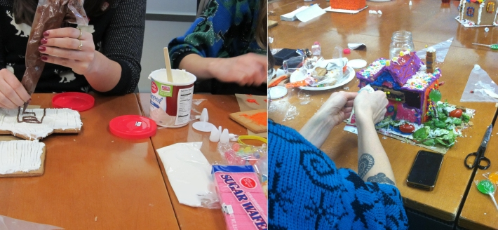 Making edible artwork.
