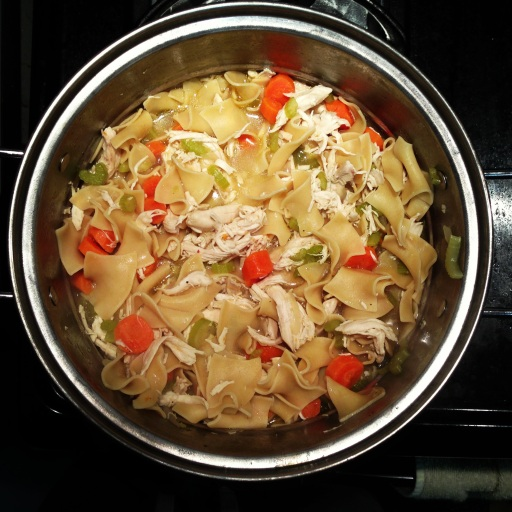My homemade chicken noodle soup!
