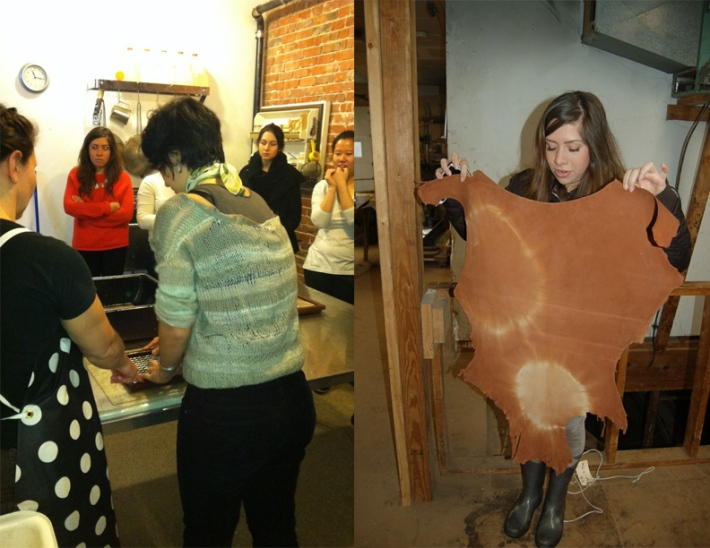 Our class visiting Carriage House Paper and Meyer and Sons Tannery!