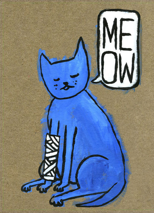 """Blue Cat"" by Michael Anderson"