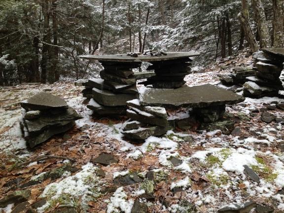 Watch out!  It's not just a pile of rocks...it's a functioning art installation!