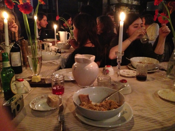 """Our gorgeous """"artful"""" dinner that we all offered a helping hand in preparing!"""