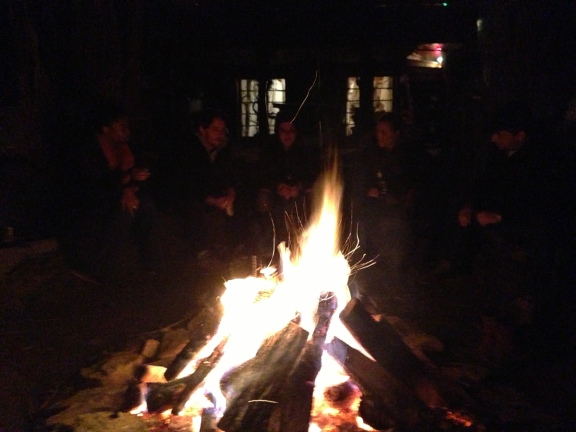 Ending the evening around a warm campfire with Morgan, my peers, and my professor