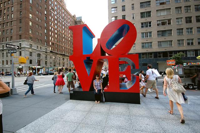 Robert Indiana's Love sculpture