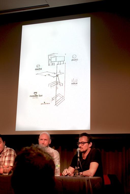 Designer and architect Anwar Mekhayech discusses the floor plan of Toronto's Momofuku