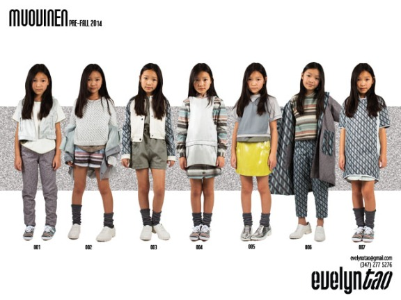 "Evelyn's lookbook for her Pre-fall 2014 Childrenswear Collection entitled ""Muovinen"""