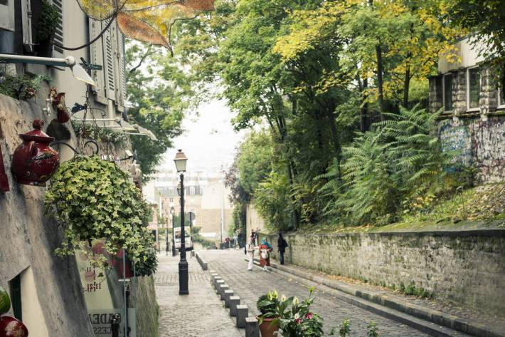 Hilly streets of Montmartre