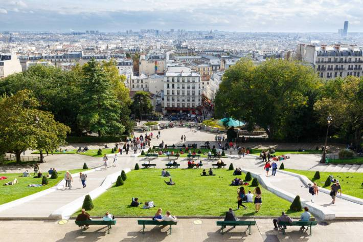 View from the top of Montmartre