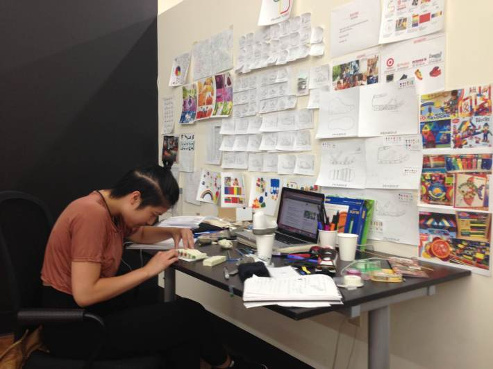 Muan working hard at her workstation!