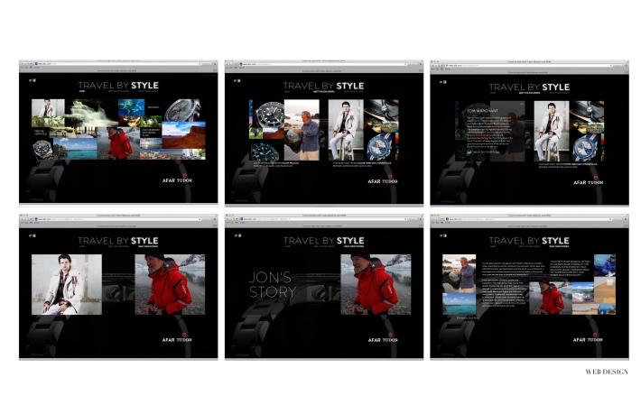 "Chris' web design for ""Travel by Style"" a Tudor and Afar magazine platform."