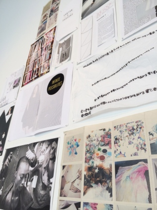 Student work from Making/Meaning currently up in our Parsons Galleries